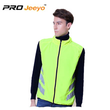 Reflective Stand Collar Zipper Closure Motorcycle Gilet