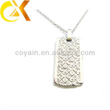 china alibaba Stainless Steel Jewelry pendant, custom men's silver etch pendant