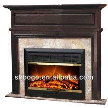 Bom artístico carvalho marrom lareira madeira lareira decorativa