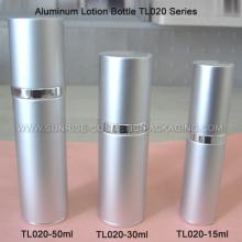 Серебристая алюминиевая бутылка лосьон