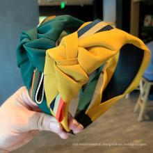2021 Wholesale Custom Luxury Colorful Knot Head Band Fashion Women Plain cloth makeup headband