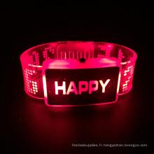 Bracelet Led Happy Happy Day 2016