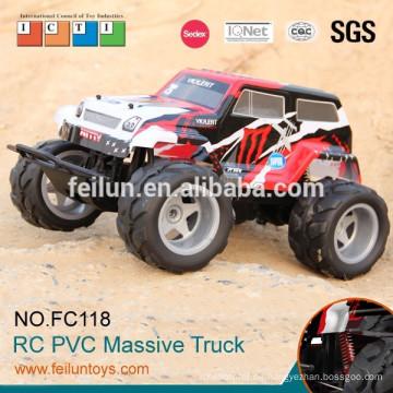 Promational 4CH 01:10 große Räder 4WD off Road Rc Spielzeug aus Plastik Truck zum Verkauf