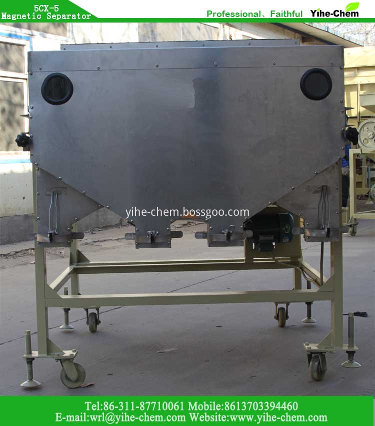 Magnetic Separator for seed grain bean cleaning