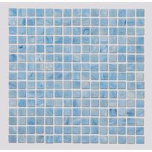 Отделка стен бассейна стеклянной мозаичной плиткой
