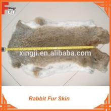 Peau de fourrure de lapin de lièvre brun naturel de haute qualité