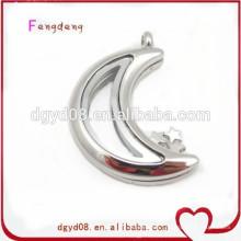 Fashion jewelry magnet glass floating locket stainless steel locket pendant