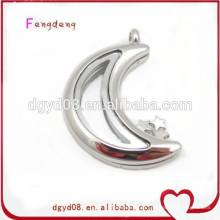 Moda jóias ímã de vidro medalhão flutuante medalhão de aço inoxidável pingente