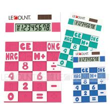 8 chiffres Calculatrice en silicone à double alimentation (LC593A)