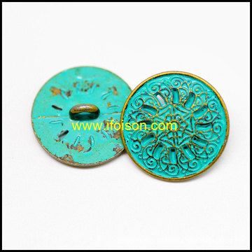Fashion Style Metal Shank button for Coat