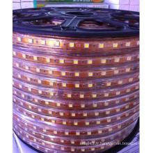 Décoratif 5050 cuttable 0,5 m LED flexible Strip Light 60 / 72leds 220V W / WW / B