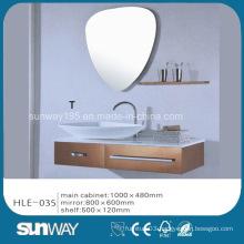 India Hot Sell Silver Mirror Stainless Steel Luxury Bathroom Vanity Cabinet
