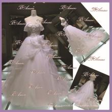 1A092 CX 2015 Sweetheart vestidos de novia / encaje abrir de nuevo moderno palacio clásico vestido de novia A-Line vestido de novia noble