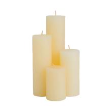 Оптовая Белый Столб Свечи для украшения дома