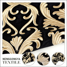 New arrival eco friendly polyester dubai bright velvet fabric embroidered