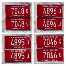 Пользовательские Тиснением Печати Номерной Знак Автомобиля /Автомобиля/Декоративные Отражать Автономеров