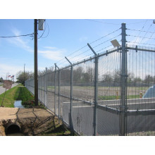 Wire Mesh Fence with Three Line Barbed Wire