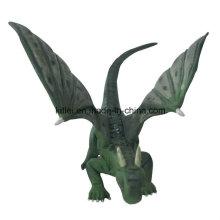 Eco-Friendly Polyresin mini mosca dinosaurio plástico de dibujos animados Dragon Kid juguetes