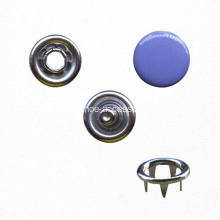 Eco-Friendly Prong Ring Snap Button with Dyed Cap