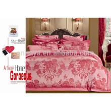 Nupcial conjunto de cama de casamento conjunto de folha de estilo jacquard 7pcs tamanho king