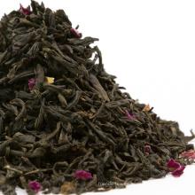 Té negro aromatizado con sabor a rosa de té negro personalizado