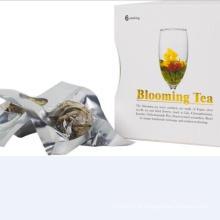 Dom embalado chá de florescência
