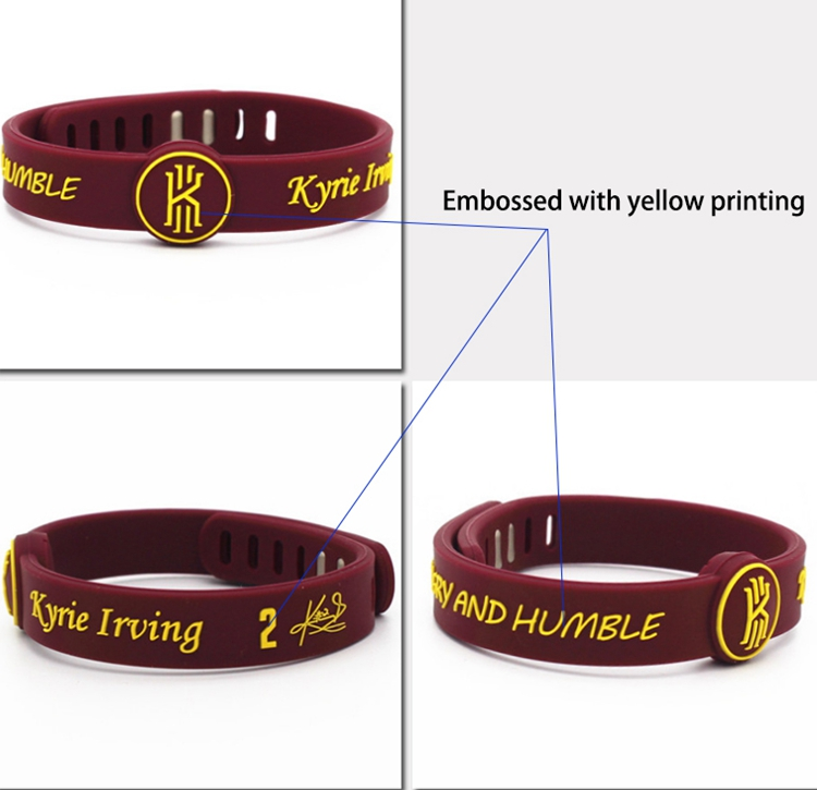 silicone embossed bracelet