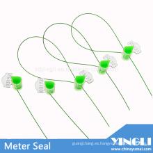 Sello de medidor de seguridad transparente anti-reverso con impresión láser