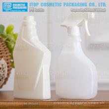 cor personalizável PEAD plástico 500ml frascos do pulverizador gatilho para limpador de vidro e outro detergente doméstico