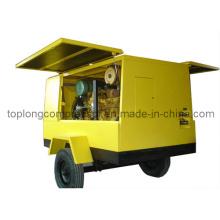 Compresseur à air rotatif à vis rotative mobile à moteur diesel (TDS-17/7 132kw)