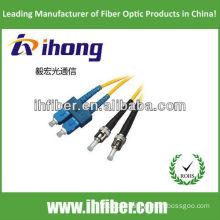 SC-ST singlemode duplex fiber optic patch cord manufacturer with high quality