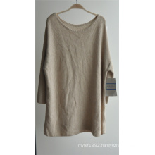 Women Round Neck Pure Color Pullover Knitted Sweater