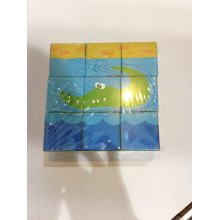 9PCS Wooden Six Sides Puzzle Block Toy for Kids and Children