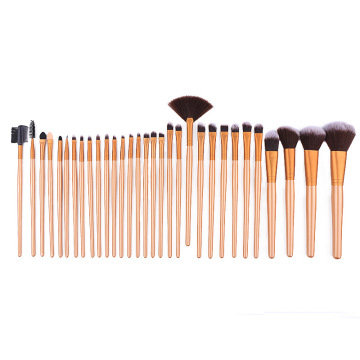 32 braune Make-up-Pinsel, Kaffee-Gold-Make-up-Pinsel, professionelle Make-up-Pinsel-Make-up-Stiftsets, Beauty-Tools