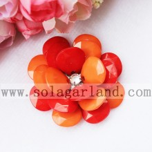 54MM Two Tone Color Acrylic Plastic Beaded Artificial Flower