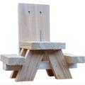 Divertido alimentador de ardilla de regalo, GIBBON / ET-720729, fácil de limpiar, llenar e instalar alimentador de ardilla de madera
