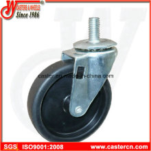 4 Zoll Light Duty PP Swivel Caster mit 1/2 Gewinde Stem