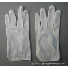 Luva de trabalho leve de algodão anti-estático com pontos de PVC