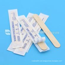 Hochwertige Einweg-Holz benutzerdefinierte medizinische Zunge Spatel Depressor
