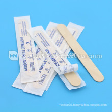 sterile packing disposable wooden tongue depressor