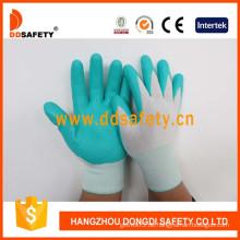 Blaues Nylon mit schwarzem Nitril-Handschuh-Dnn800