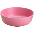 Eco-friendly Bamboo Shallow Round Bowl