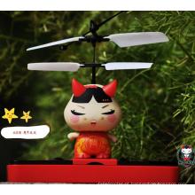Venda quente rc voando robô de brinquedo com luz