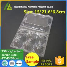 Plateau d'emballage en plastique transparent