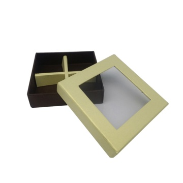 Cardboard Paper Packing Box with  Clear Window