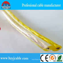 Transparent PVC Aluminum Conductor Flat Parallel Speaker Cable 10 AWG