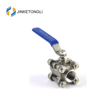 JKTL3B007 cf8m 1000 wog 3pc float teflon stainless steel ball valve metric ball