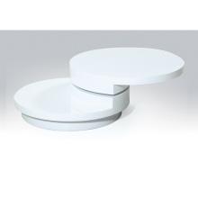 moderna mesa de centro branca italiana redonda