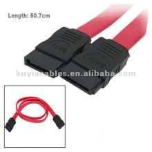 18-Дюймовая 7-контактная штепсельная вилка ATA Serial ATA Data Cable Red