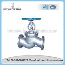 Válvula de globo de aço inoxidável válvula de globo de 6 polegadas